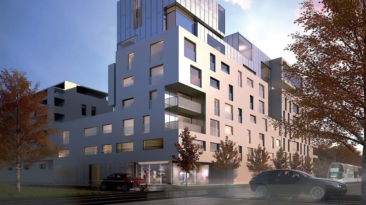 Facade Equinoxe Appartements Neufs A Strasbourg 41538300/ L'Equinoxe
