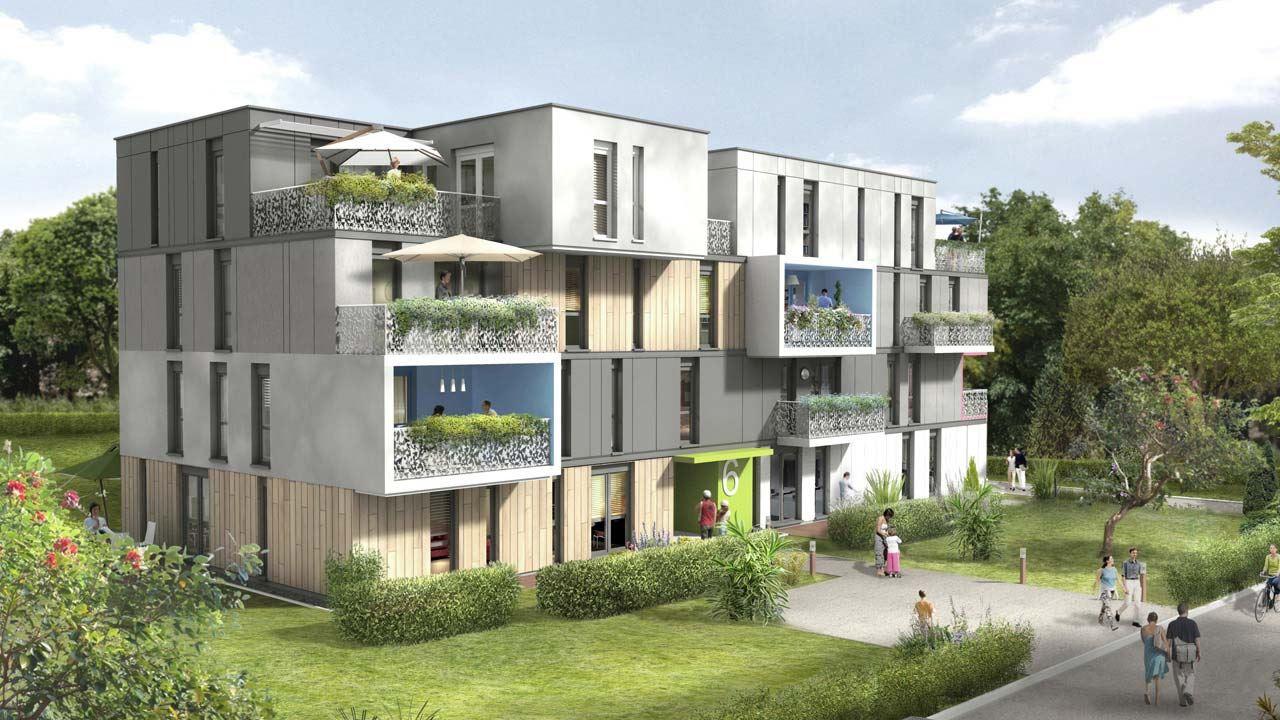 Facade Oree Du Parc Appartements Neufs A Strasbourg 38885997/ L'Orée Du Parc