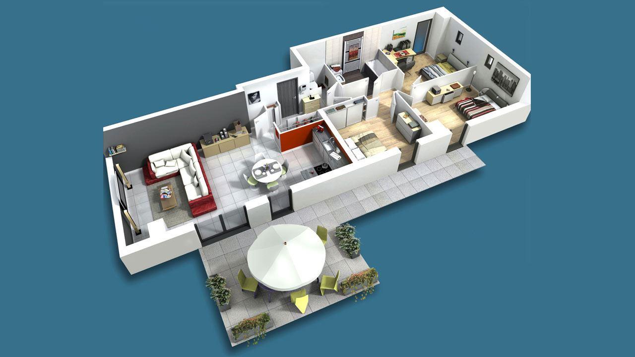 Plan3d Terrasse Oree Du Parc Appartements Neufs A Strasbourg 56276358/ L'Orée Du Parc