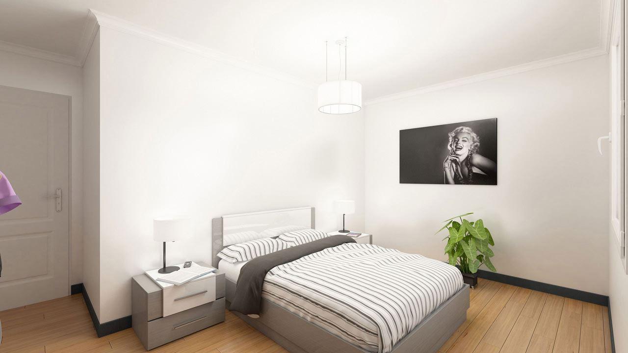Chambre Appartement Neuf T4 Residence Cote Marianne Yutz Ref C16 76414976/ Côté Marianne