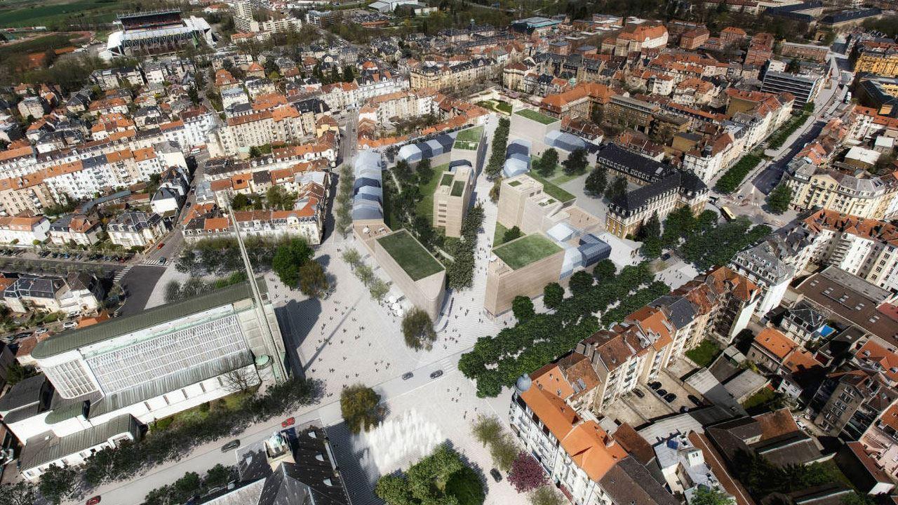Plan De Masse Nouveau Quartier Bon Secours Metz 90590289/ La Maison Du Projet Bon Secours à Metz